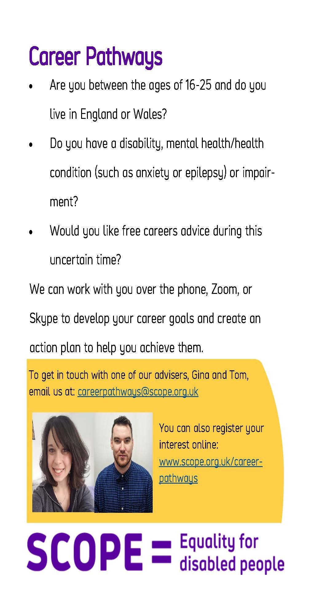 Digital Career Advice Leaflet  Scope